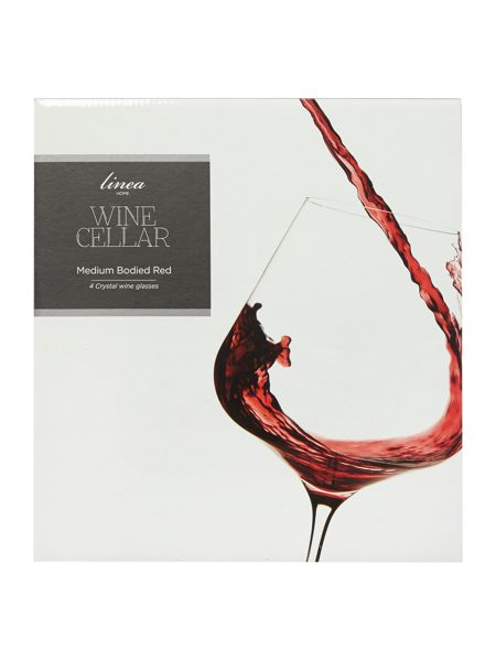 Linea Wine cellar crystal set of 4 medium bodied red