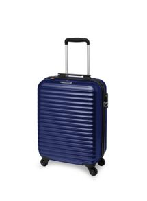 Axial blue 4 wheel hard cabin suitcase