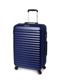 Axial blue 4 wheel hard medium suitcase