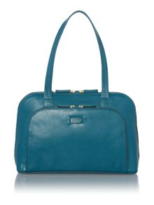 Pippin blue medium zip top tote bag