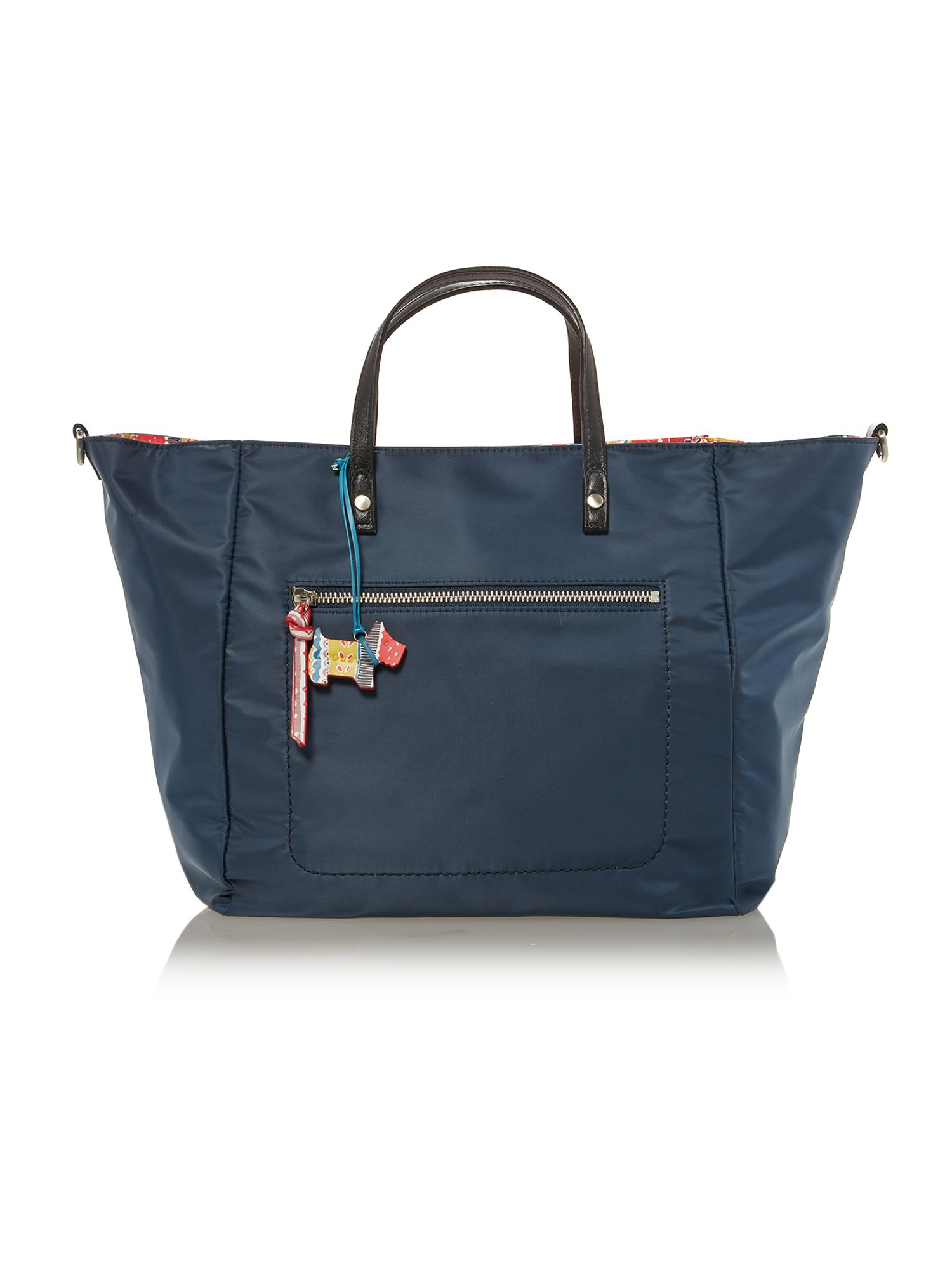 Petticoat navy medium xbody tote leather bag