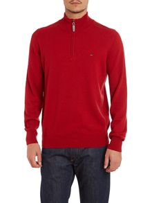 Sport zip lambswool jumper
