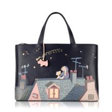 Make a wish medium picture bag ew leather tote
