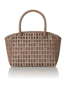 Saffiano tan small satchel handbag