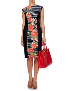 Floral stripe dress