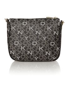 Coated logo black cross body bag