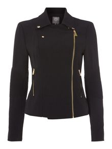 Pu Side Zip Moto Jacket