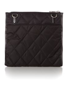 Nylon black quilted cross body bag