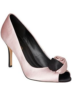 Renee satin peep toe shoes