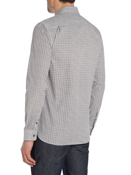 Peter Werth Gasper printed dogtooth shirt