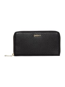 Tribeca black large zip around purse
