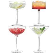 LSA Lulu Champagne/Cocktail Glass Assorted set of 4