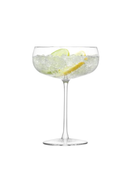 LSA Lulu Champagne/Cocktail Glass Clear Assorted x 4