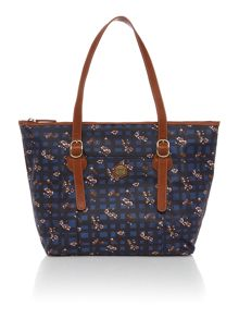 Viola multi coloured floral tote bag