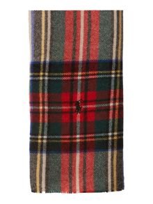 Plaid varsity wool scarf