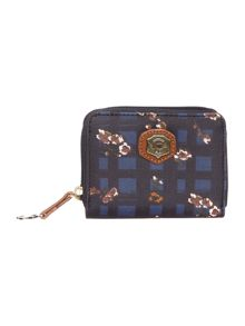 Mona multi coloured floral small zip around purse