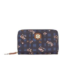 Simona multi coloured floral zip around purse