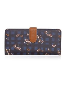 Mila large multi coloured floral flapover purse
