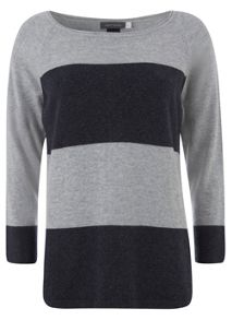 Navy and Silver Stripe Knit