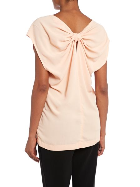 Louche Bow back blouse top