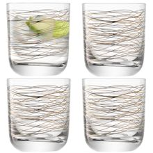 Cocoon Tumbler 325ml Gold/Platinum x 4