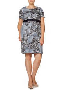 Marina Rinaldi Dry short sleeve floral shift dress