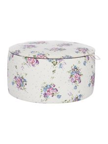 Small Floral Fabric Storage Box