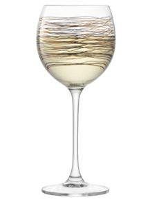 LSA Cocoon Wine Glass 400ml Gold/Platinum x 4