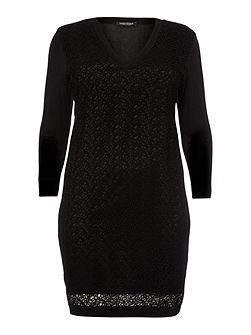 Grace knitted laser cut dress