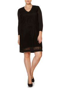 Marina Rinaldi Grace knitted laser cut dress