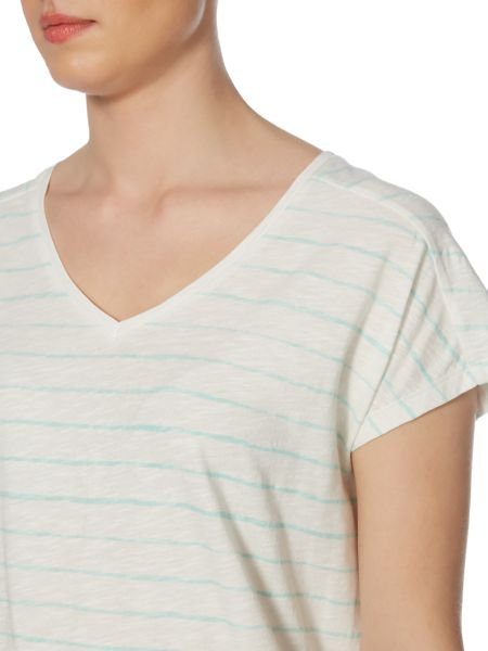 Linea Weekend Brush stripe classic tee