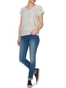 Brush stripe classic tee