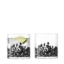 Devoré Tumbler 290ml Black x 2