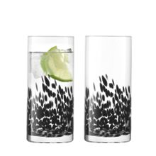 Devoré Highball 340ml Black x 2