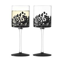 Devoré Wine Glass 340ml Black x 2