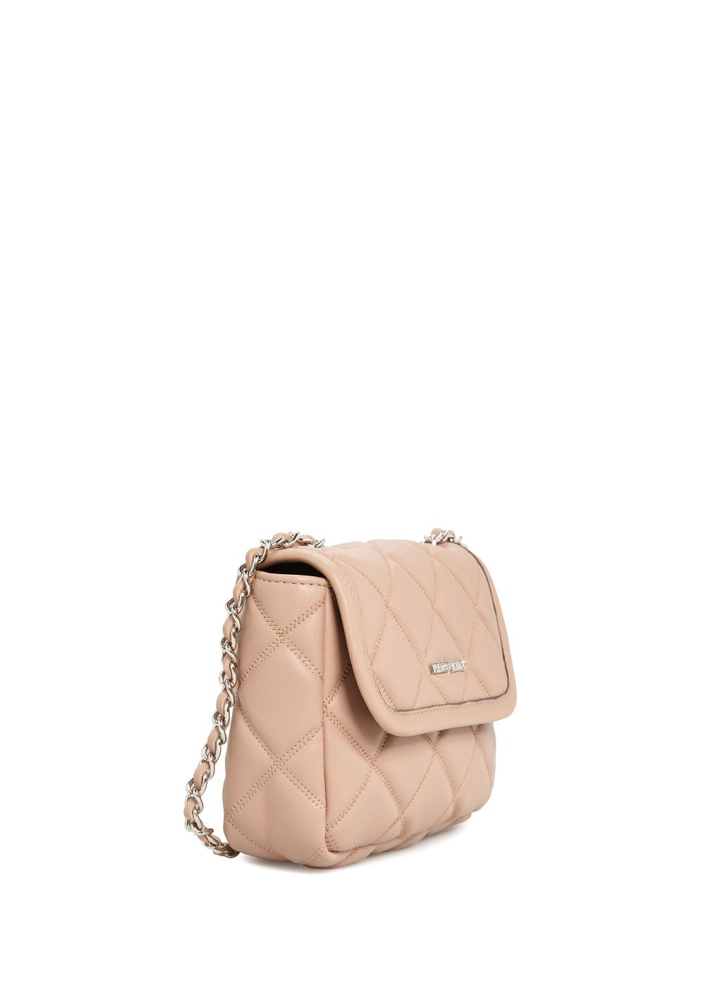 Quilted mini cross-body bag
