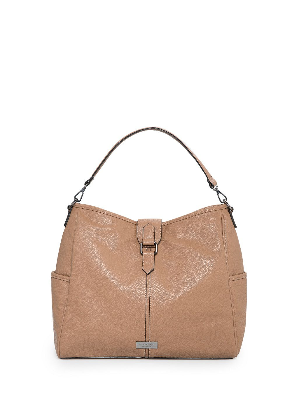 Plebbed hobo bag