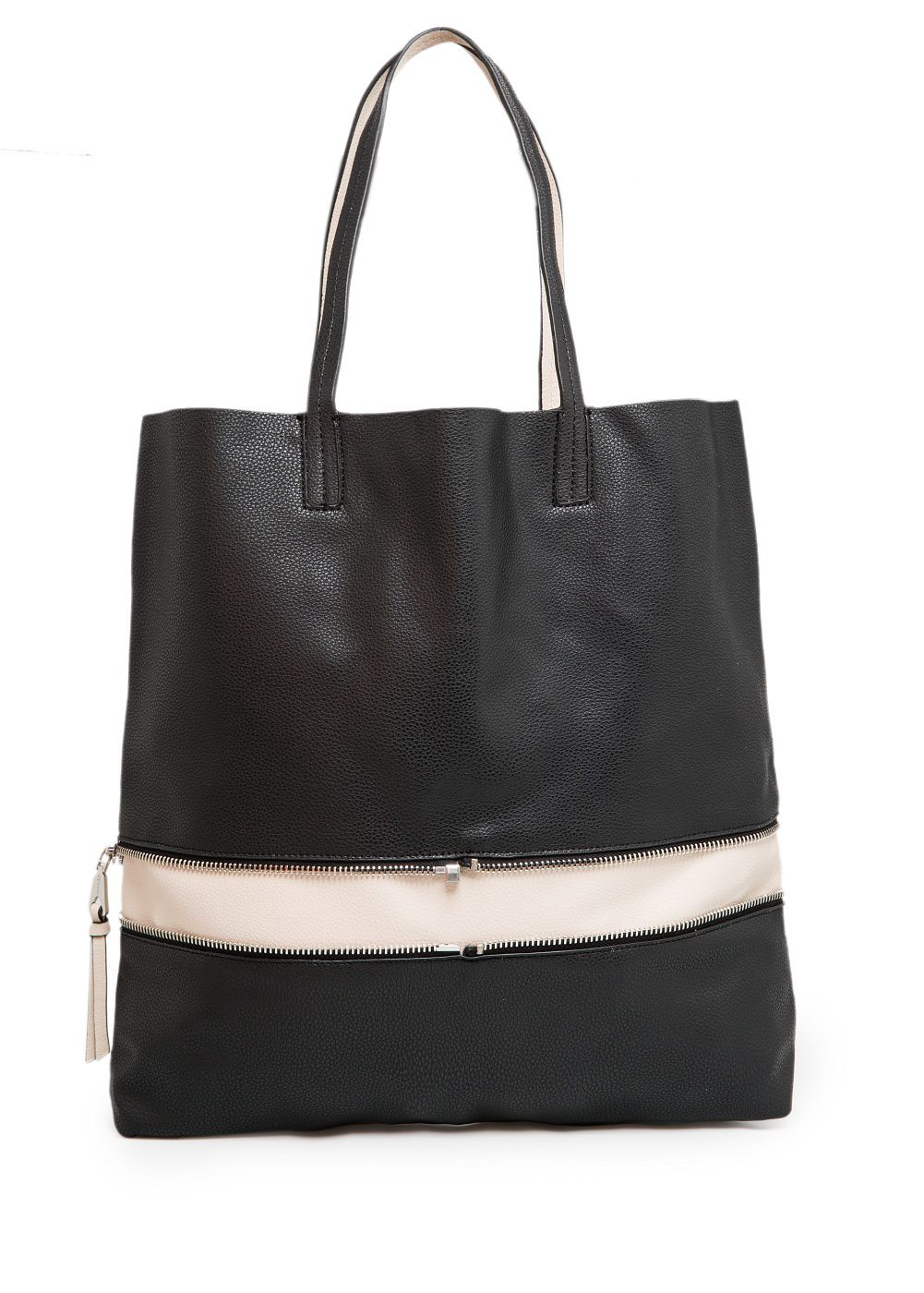 Leather-lining shopper bag