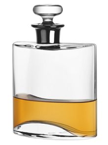 Flask Decanter 0.8L Clear/Platinum Neck
