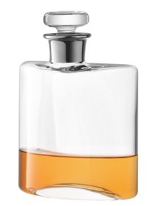 Flask Decanter 0.35L Clear/Platinum Neck