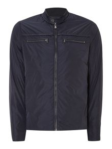 Piped moto jacket