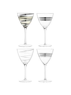 Gatsby Wine Glass 330ml Assorted Platinum x 4