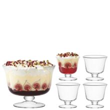 Serve Dessert Set Ø25cm/Ø11.5cm Clear