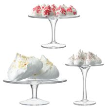 Serve Cakestand Set Ø22cm/Ø18cm/Ø14cm Clear