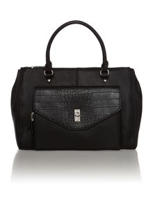 Bridget black large tote bag