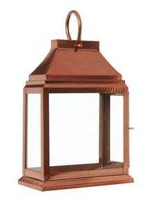 Copper glass lantern range