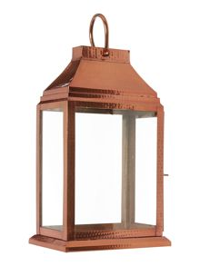 Copper Glass Lantern Medium