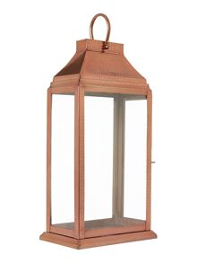 Copper Glass Lantern Large