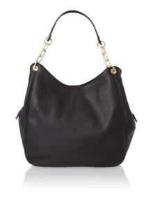 Loretta black medium hobo bag
