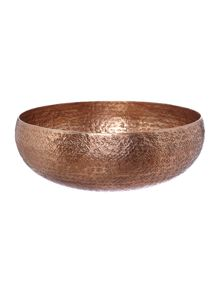Coppper hammered metal bowl range